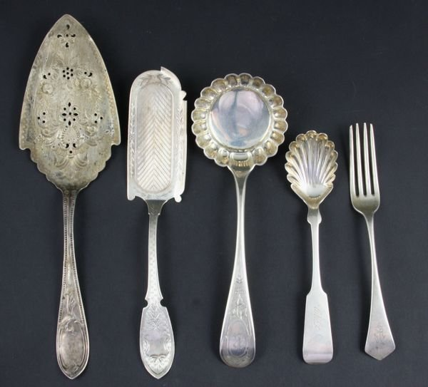 2009: Collection of Coin Silver Serving Utensils