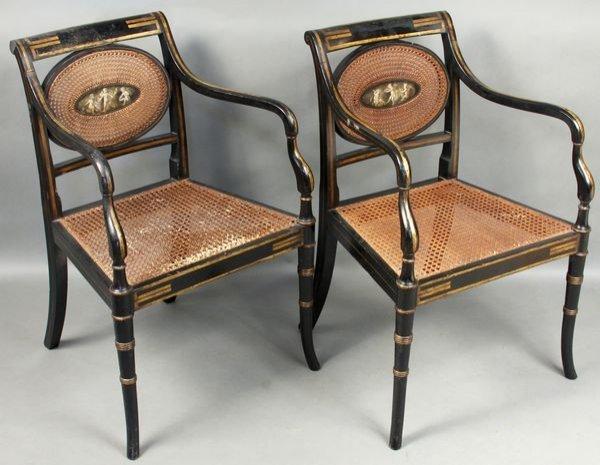 2023: Pair of Early 19thC. Sheraton/Adams Armchairs