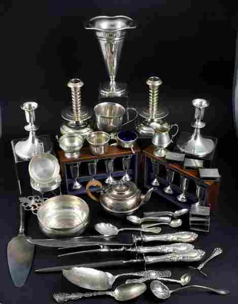 Assorted Sterling Flatware and Hollowware