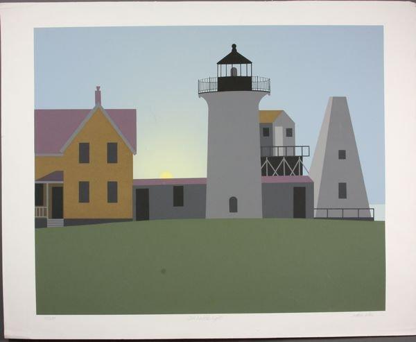 2013: Arthur Sellar, Old Nubble Light, Silkscreen