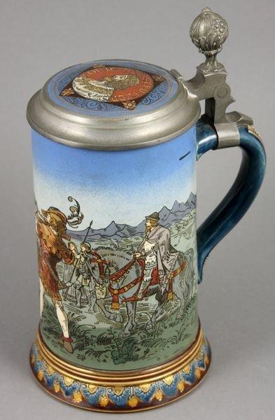 3011: Mettlach Stein, William Tell #2082, 1/2 Liter