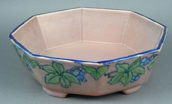 """3002: Rookwood Pottery Footed 9 1/2"""" Bowl, Signed"""