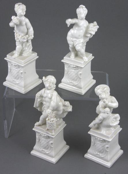 3022: Set of (4) German Blanc-de-Chine Putti Figures