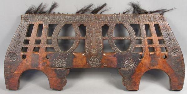 3019: 18th/19th C. Eastern Carved Wood Pony Yoke