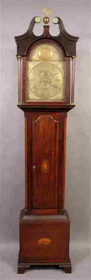 LATE 18TH CENTURY GLASGOW MAHOGANY TALL CLOCK