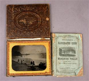 RARE 19TH CENTURY AMBROTYPE WITH ABRAHAM LINCOLN