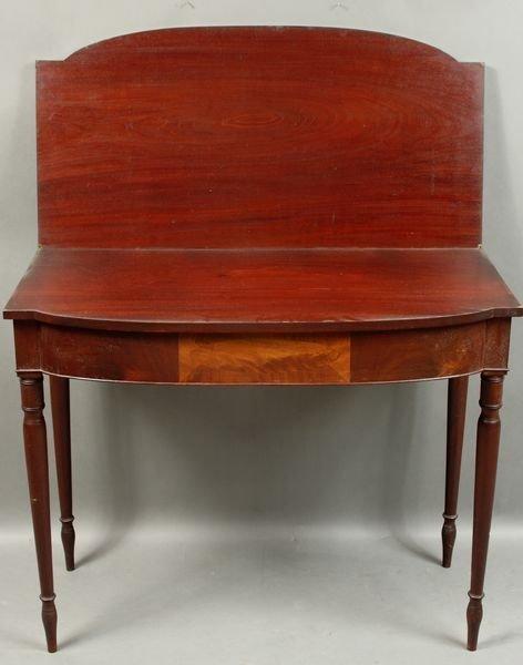 4010: Federal Inlaid Mahogany Swing-leg Card Table