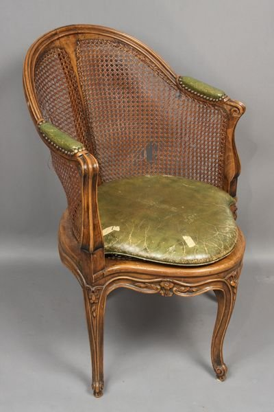 4001: Early 20th C. Louis XVI Fruitwood Corner Chair