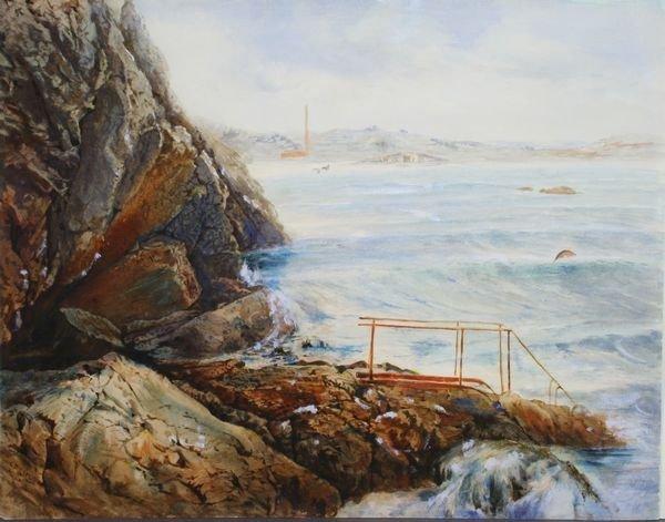 4023: Sgnd. Charles Biesel, Lake or Seascape
