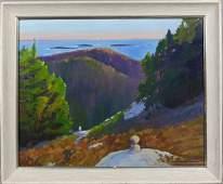 "4060: Signed Paul Noble James, ""Acadia"", o/c"
