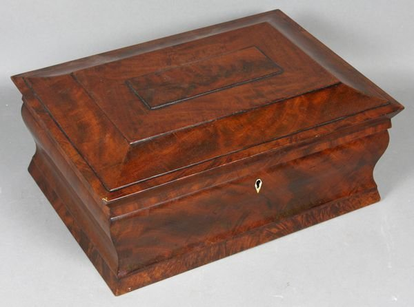 4004: 19th Century Flame Mahogany Document Box