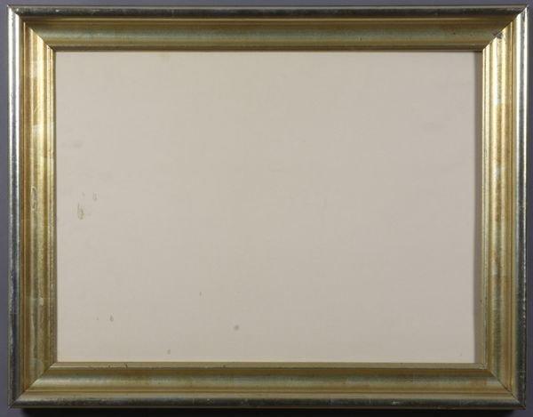 """5004: 20th C. gilt frame, outside: 15 1/2"""" x 20"""""""