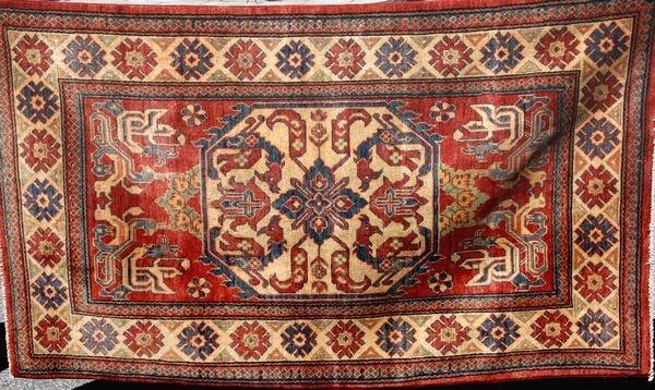 """5100: Late 20th C. Persian Kazak Rug, 3' 5"""" x 5' 9"""""""
