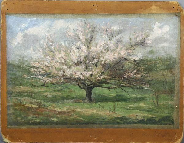 6014: Adolph Stahl, Old Apple Tree on Farm, o/c