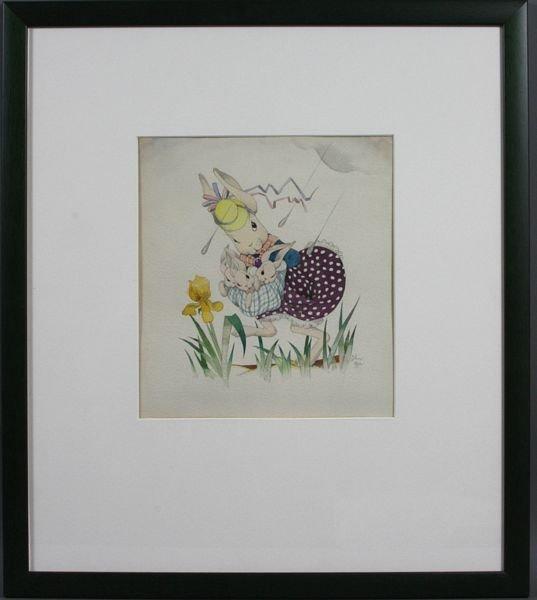 6019: John Gee, Children's Illustration, w/c on paper