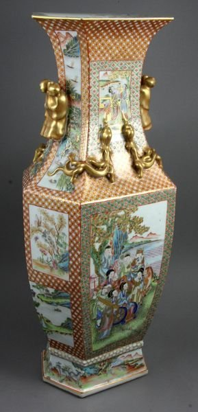 "6120: 19th C. Chinese Royal Canton Vase, 23""h."
