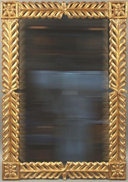 6004: Italian Handcarved Gilt Mirror, Harrison & Gil la
