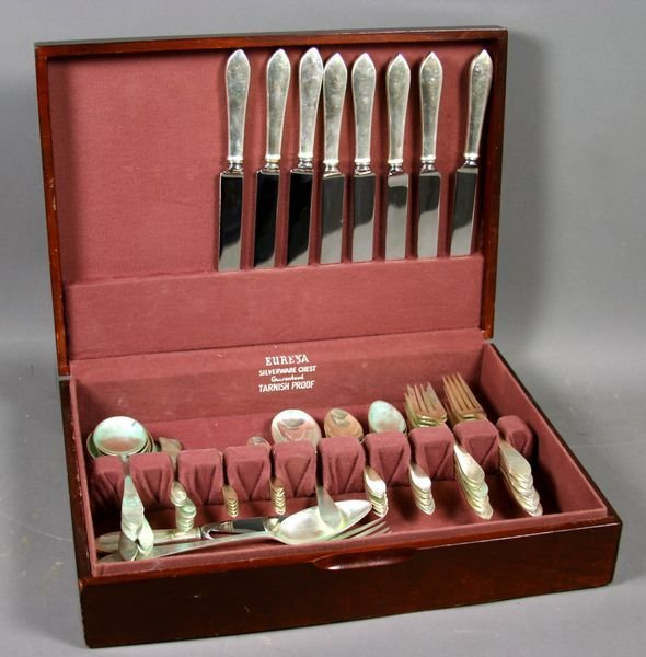 "6172A: Tiffany & Co. ""Faneuil"" Sterling Flatware for (8"