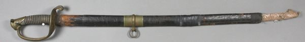 6009: Civil War Sword Marked Ames, Chicopee, MA