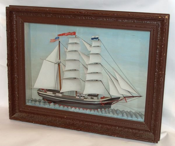 "6016: Early 20th C. Shadowbox of the ""Lottie"""