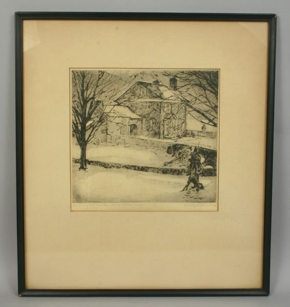 7017: SIGNED JOHN CAPOLINO, VALLEY FORGE, ETCHING