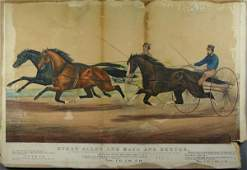 """7033: 19th C. Print """"Ethan Allen and Mate and Dexter"""""""