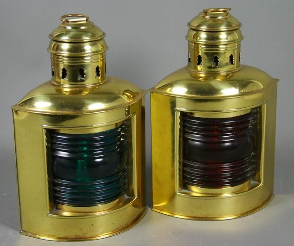 Pair of Port & Starboard Ship Lights