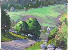 7122: Signed Paul Noble James, Landscape, o/c