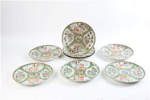 19th C Chinese Rose Medallion Plates