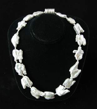 South Seas Keshi Pearl Necklace