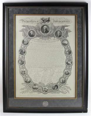 20thC Declaration of Independence includes 19thC Medal
