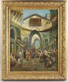 In the Manner of Fredric Bridgman, Oriental Market