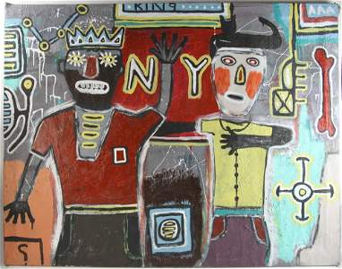 Painting in the Style of Basquiat