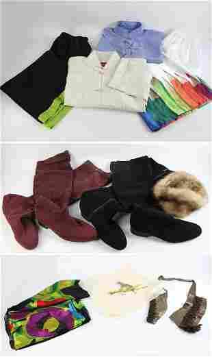 Vintage Clothing, Boots, Fur Hat