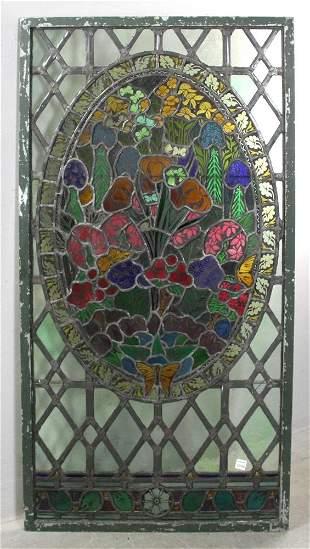 C1890 Art Nouveau Stained Glass Window