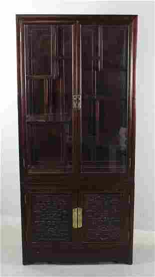 Chinese Rosewood Curio Cabinet