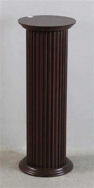 Mahogany Fluted Pedestal
