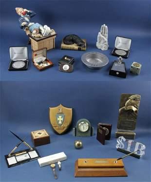 Warren Pete Musser Assorted Presentation Items Desk
