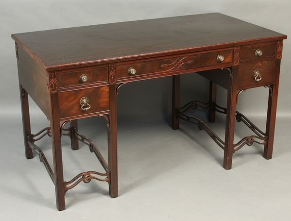 8007: C1920s Chinese Chippendale Writing Desk