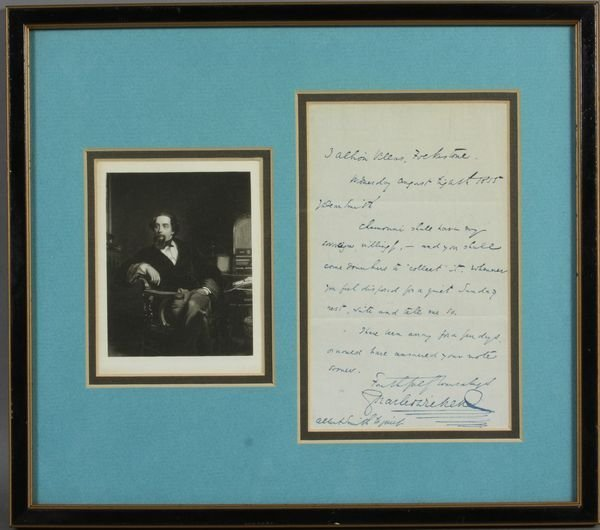 8058: Autographed Signed Letter, Charles Dickens