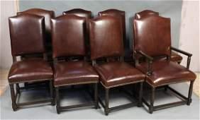 8117: (8) 20th C. Custom Leather Designer Chairs