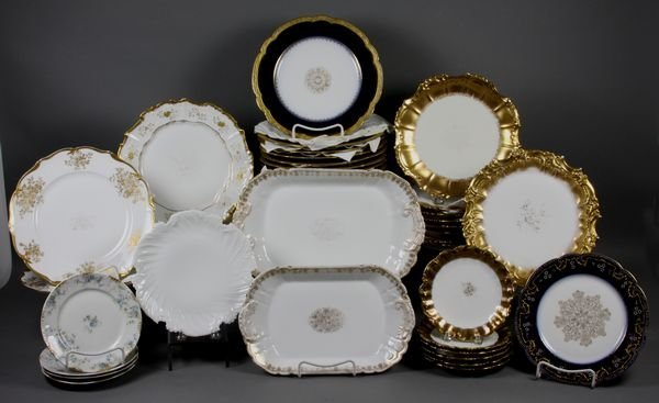 8014: (41) Assorted Pieces of 19/20th C. Limoges