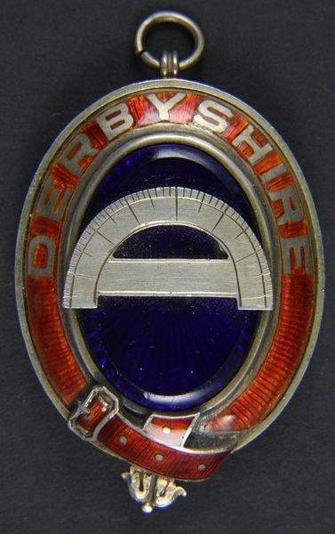 9016: English Silver and Enamel Pendant, Toye & Co.