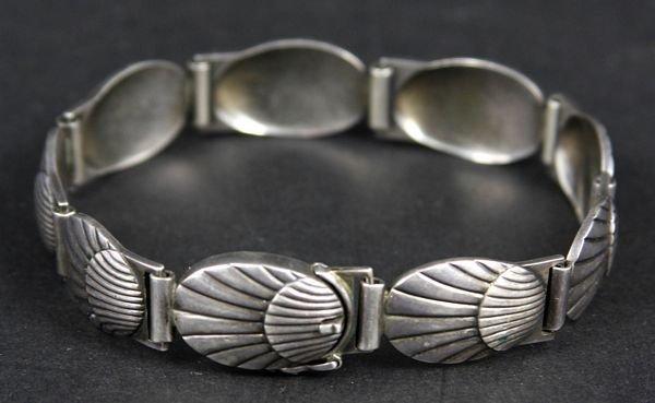 9018: Georg Jensen Sterling Denmark Bracelet #77