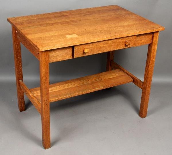 9021: Arts & Crafts Oak Desk/Table