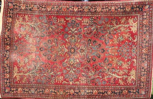 """5: Fine Antique Persian Sarouk Rug, 4' 5"""" x 6' 7"""""""