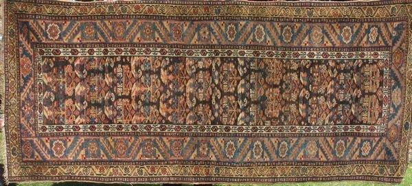 "9: Antique Persian Kurd Rug, 3' 10"" x 8' 6"""