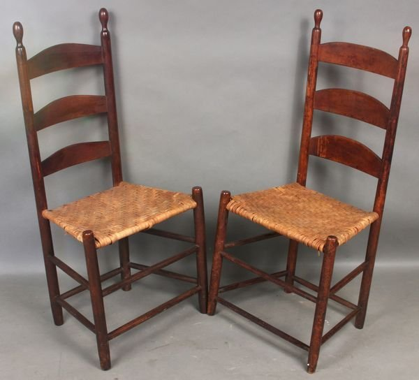 19: Two (2) Shaker High Back Chairs