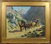 59: Floyd Copeland Chandler, Western Scene, o/c