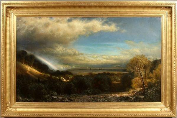 282: James Fairman, Hudson River Scape, o/c